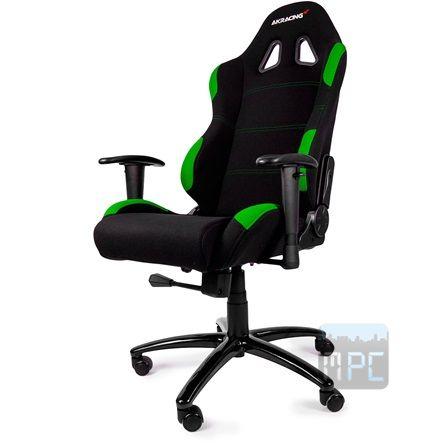 AKRacing Gaming játékülés fekete-zöld