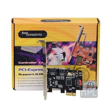 Best Connect PCI-E x1 - 2 SATA2 RAID vezérlõ